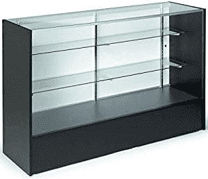 5 ft Glass display counter with adjustable shelves