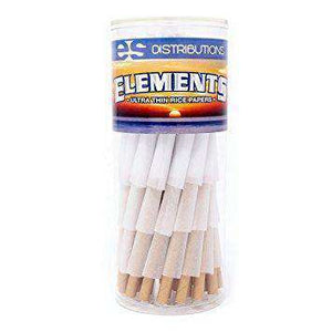 Elements Rice Paper Pre Rolled Cones 1 1/4- 75 Count
