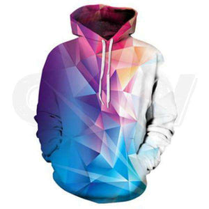 Cotton Candy Geometry Hoodie
