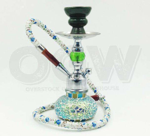 Hookah Glass Water Stand Set with Ash Plate Seafoam [product_tag] OG WAREHOUSE - OG WAREHOUSE