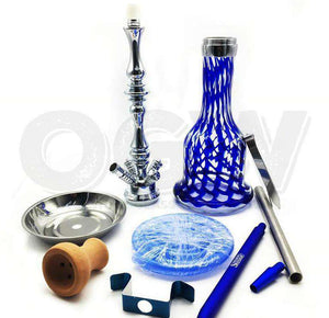 "27.5"" Hookah Glass Water Stand Set with Ash Plate [product_tag] OG WAREHOUSE - OG WAREHOUSE"
