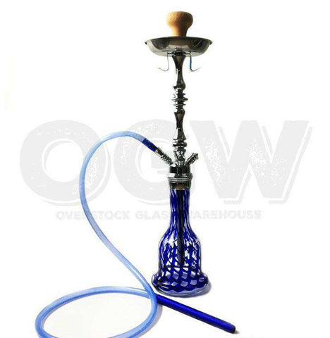 "27.5"" Hookah Glass Water Stand Set with Ash Plate"
