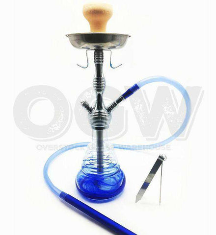 "18.5"" Hookah Glass Water Stand Set with Ash Plate [product_tag] OG WAREHOUSE - OG WAREHOUSE"