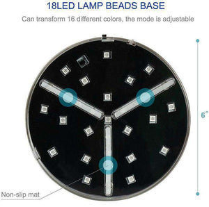 Color Adjusting LED Base For Water Pipes