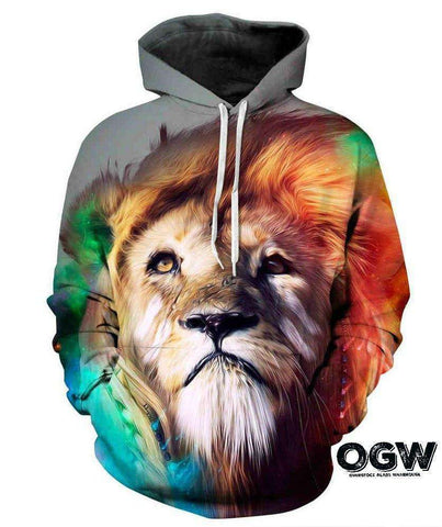 Colorful Lion Hoodie  OG WAREHOUSE - OG WAREHOUSE