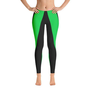 Leggings- Green Stripe