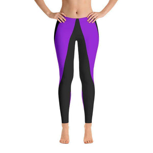 Leggings - Purple Stripe