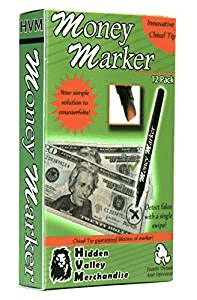 Money Marker - Counterfeit detector Markers 12 count