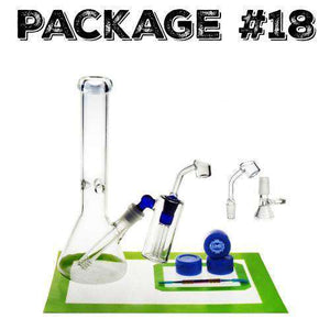 Package #18 - Medium Beaker + Accessories + Ash Catcher