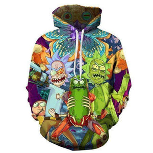 Rick and Morty Pickle Rick Good And Evil Hoodie
