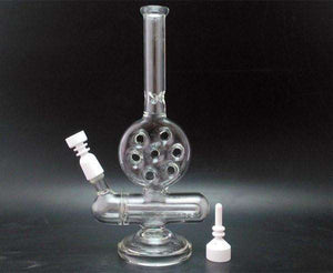 Hookahs 6 Shot Inline Glass Pipe