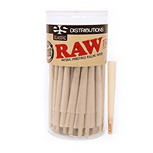 Raw Classic  98 Special Pre Rolled Cones With Tips- 100 Pack