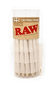 Raw PreRolled Cones with Filter - 75 Pack