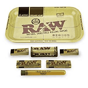 Raw Rolling Tray Combo Tray 7 items - Small
