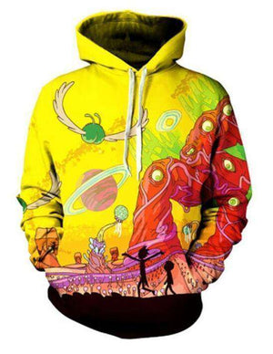Space Traveller Hoodie Rick and Morty