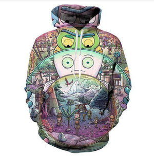 Inner Worlds Rick And Morty Hoodie