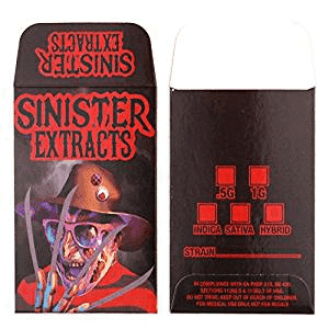 Freddy Krueger Sinister Shatter Labels Packaging Coin Envelope