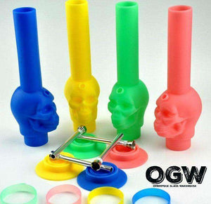Silicone Skull Collapsable Pipe
