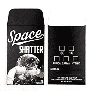 25 Premium Space Shatter Strain Label Concentrate Packaging Extract Envelopes