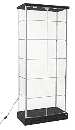 Full vision 6 ft Tall Display case with 2 Led enhancing lights