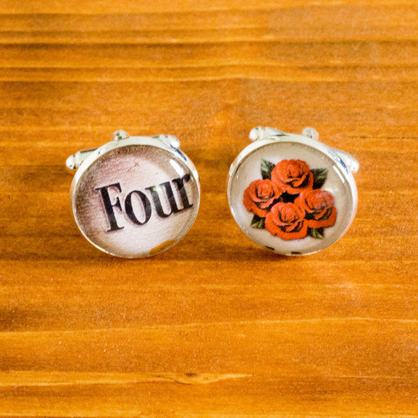 Four Roses Cuff Links