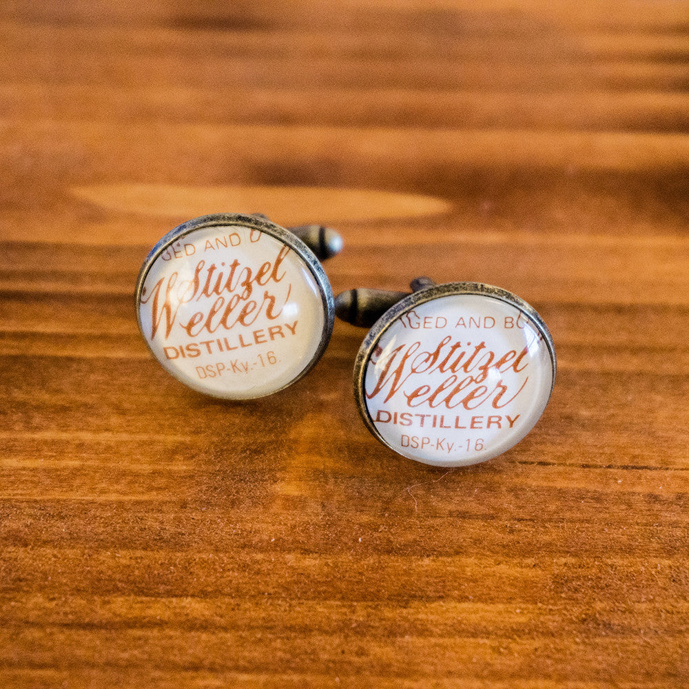 Stitzel Weller (1958) Cuff Links - Orange