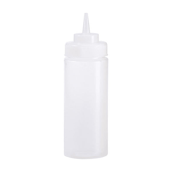 16 oz Wide Mouth Squeeze Bottle, Clear