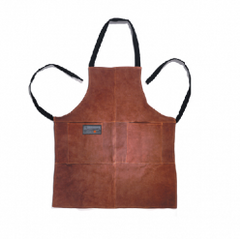 Leather Grill Apron - Brown