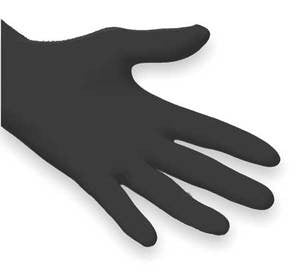 X-Large - Nitrile Disposable Gloves - Black