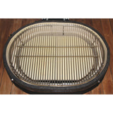 Ceramic Grill Store Stainless Cooking Grids set-up with Deflector Plates