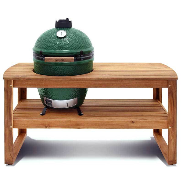 acacia table by big green egg