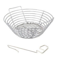 Large Big Green EGG, Primo Kamado, Grill Dome Stainless Kick Ash Basket by Kick Ash - KAB-LG-SS