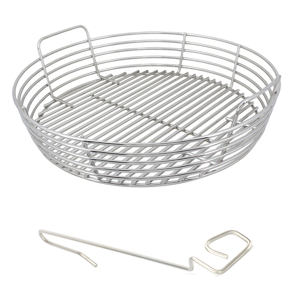 XL BGE Stainless Kick Ash Basket, BGE XL SS