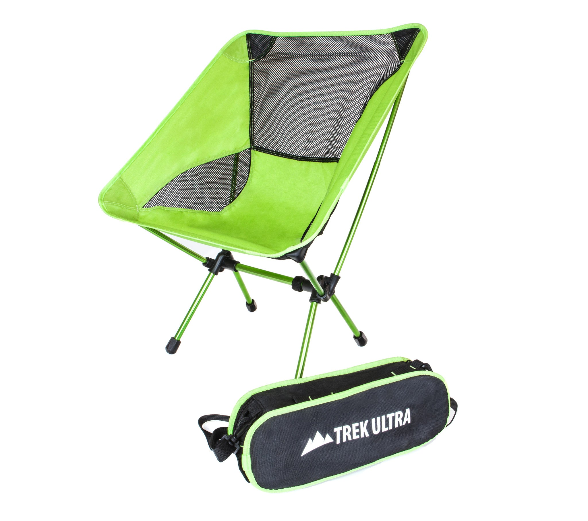 TrekUltra Camping Fold Up Chairs with Bag Portable Lightweight Heavy