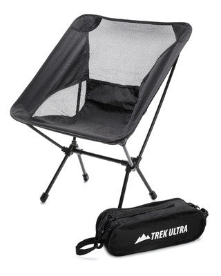 ... TrekUltra Portable Compact Lightweight Camp Chair With Bag   Ultralight Folding  Camp Chairs   Great Beach ...