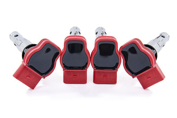 OEM Ignition Coil Packs (FSI/TSI) Set of 4 (RED) For VW / Audi