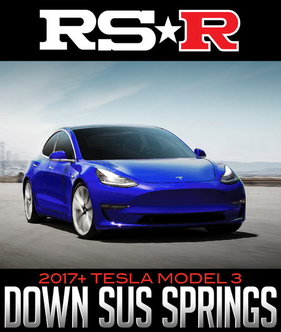 RS-R DOWN SUS LOWERING SPRINGS: 2017+ TESLA MODEL 3