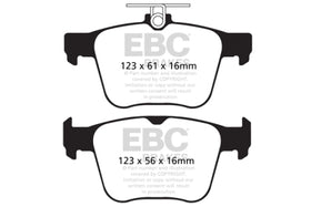 Rear | EBC RedStuff Ceramic Race Brake Pads | 310mm Mk7 Golf R | Audi S3 | TT-S