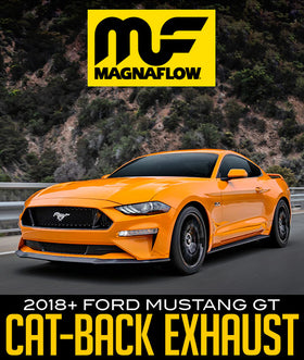 MAGNAFLOW COMPETITION SERIES CAT-BACK EXHAUST SYSTEM: 2018+ FORD MUSTANG GT