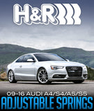 H&R VTF ADJUSTABLE LOWERING SPRINGS: 2009–2016 AUDI A4/S4/A5/S5