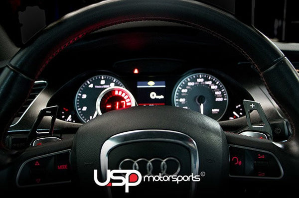 Black Aluminum DSG Paddle Extensions For Audi Vehicles