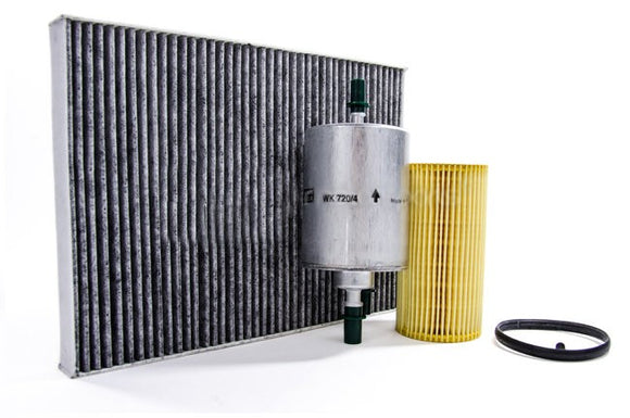 Filter Trio Kit (Oil, Fuel, A/C Cabin Filter): Audi A4 2.0T FSI