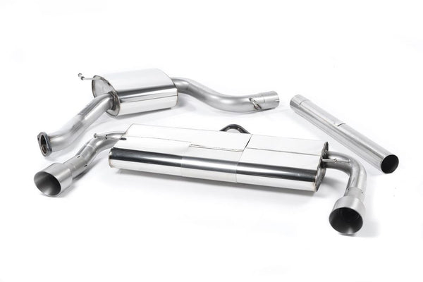 Milltek Resonated Cat Back Exhaust - Titanium Tips - MK7 Golf GTI