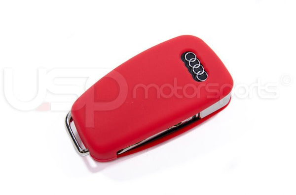 Silicone Key Fob Jelly (Audi Models)- Red
