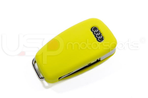Silicone Key Fob Jelly (Audi Models)- Yellow