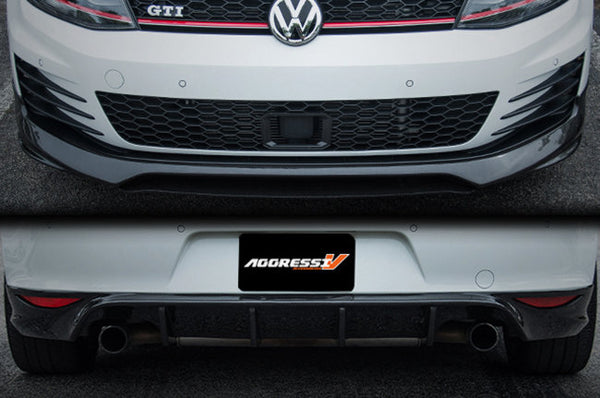 MK7 GTI Carbon Fiber Front Lip and Rear Diffuser Package