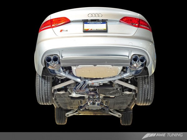 AWE Tuning Audi S4 3.0T Touring Edition Exhaust System -- Chrome Silver Tips (102mm)