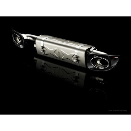 Akrapovic 10-13 Porsche 911 Turbo / Turbo S (997 FL) Slip-On Line (Titanium) w/ Titanium Tips