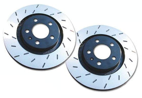Front EBC Ultimax Slotted Rotors - Set Of 2 Rotors (334x32mm) Mk4 Golf R32