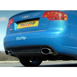 Milltek Cat Back Resonated Exhaust - Excluding Exhaust Valves - Polished Oval Tips - RS4 B7 4.2 V8